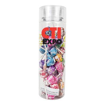 27 oz Cylinder Bottle with Dum Dums