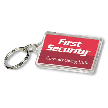 Acrylic Rectangle Key Tag