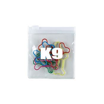 Bone Multi-Color Clipsters in a Pouch
